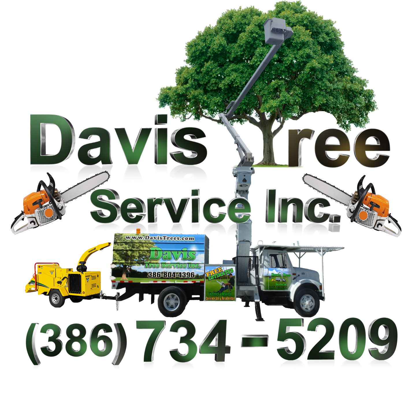 Davis Tree Bucket Truck Logo